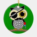 cute pirate owl christmas ornament