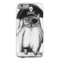 """CUTE """"Pirate Owl"""" IPHONE 6 CASE"""