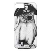 "CUTE ""Pirate Owl"" iPhone 7 CASE"