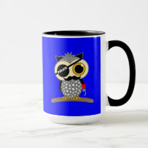 cute pirate owl mug