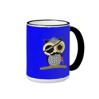 cute pirate owl ringer mug