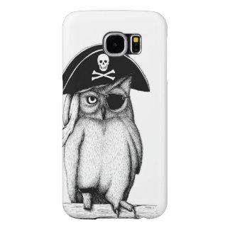 """CUTE """"Pirate Owl"""" SAMSUNG GALAXY  S6 CASE"""