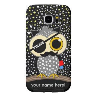 cute pirate owl samsung galaxy s6 case