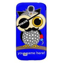 cute pirate owl samsung s4 case