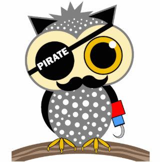 cute pirate owl statuette