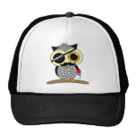 cute pirate owl trucker hat