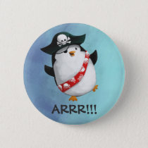 Cute Pirate Penguin Button