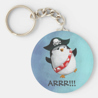 Cute Pirate Penguin Keychain
