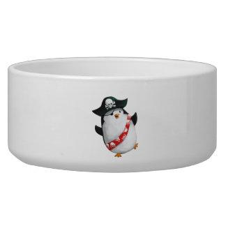 Cute Pirate Penguin Pet Water Bowls