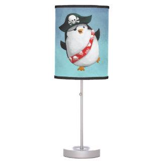 Cute Pirate Penguin Table Lamp