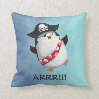 Cute Pirate Penguin Throw Pillow