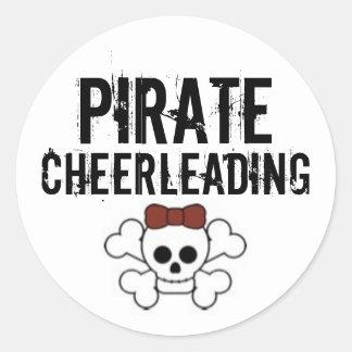 cute pirate, Pirate, Cheerleading Classic Round Sticker