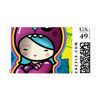 cute pirate postage stamp