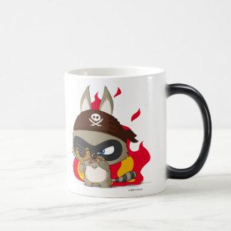 Cute pirate raccoon anime cartoon character mug
