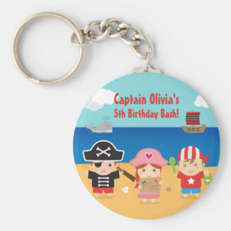 Cute Pirate Themed Kids Birthday Party Favors Keychain