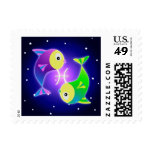 Cute Pisces Zodiac Postage Stamps