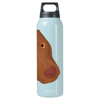 Cute Pit Bull digital portrait Insulated Water Bottle