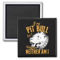 Cute Pit Bull Mom Dad Puppy Dog Funny Pitbull Magnet