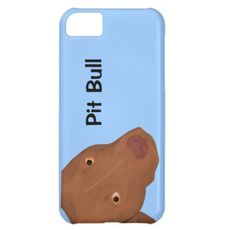 Cute Pit Bull portrait Case For iPhone 5C