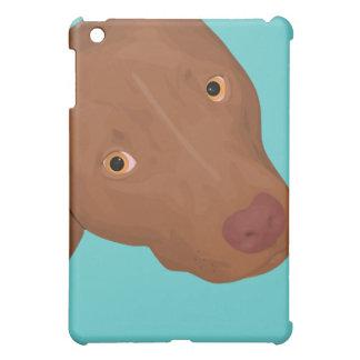 Cute Pit Bull portrait Cover For The iPad Mini