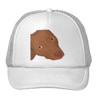 Cute Pit Bull portrait Mesh Hats