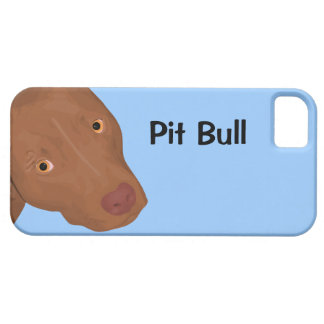 Cute Pit Bull portrait iPhone SE/5/5s Case