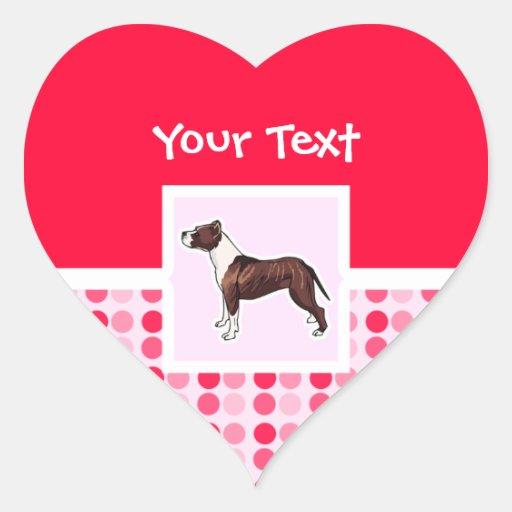 Cute Pitbull Heart Sticker