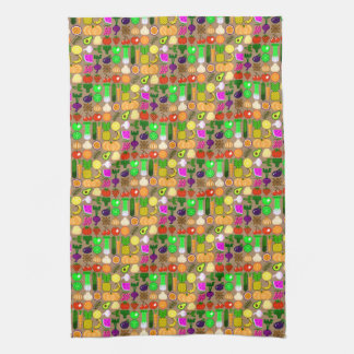Cute Pixel Art Fruit & Vegetable Kitchen Towel