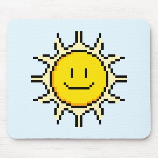 Cute Pixel Sun Mouse Pad