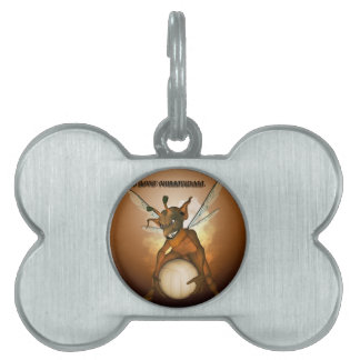 Cute pixie playing pet tags