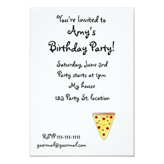 Cute pizza custom announcements