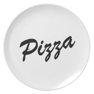 Cute pizza lover dinner plates | Customizable text