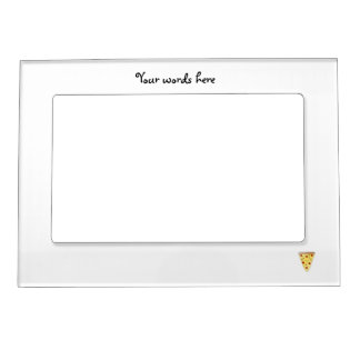 Cute pizza magnetic frame