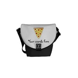 Cute pizza messenger bags