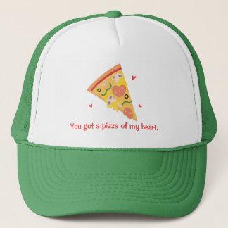 Cute Pizza of my Heart Pun Love Humor Trucker Hat