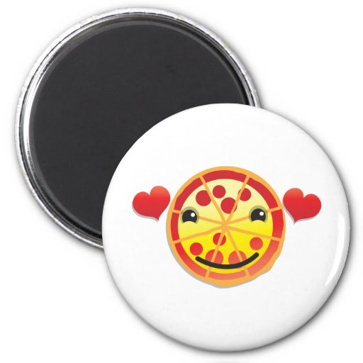 cute pizza pepperoni! fridge magnet