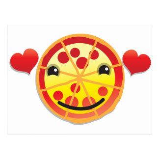 cute pizza pepperoni! postcard