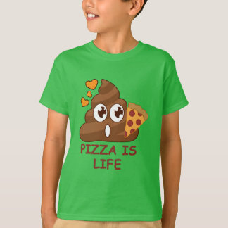Cute Pizza Poop Emoji T-Shirt