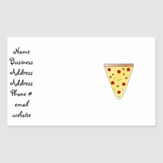 Cute pizza rectangular sticker