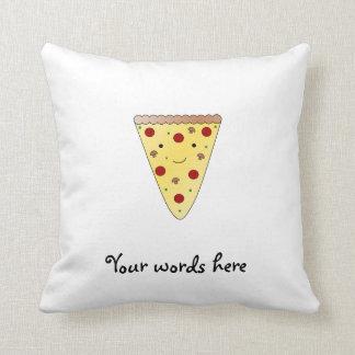 Cute pizza throw pillow