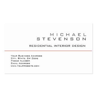 Cute Plain Black White Gray Designer Business Card