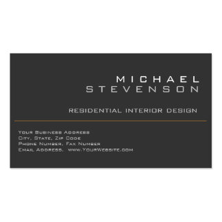 Cute Plain Grey Black Designer Business Card