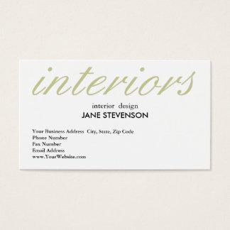 Cute Plain White Interior Designer Business Card