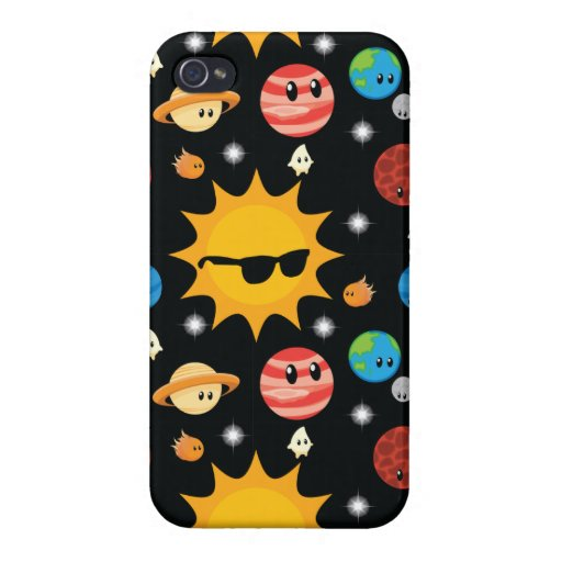 Cute Planets Space Pattern Case For iPhone 4