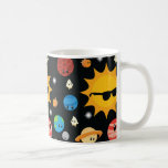 Cute Planets Space Pattern Coffee Mug