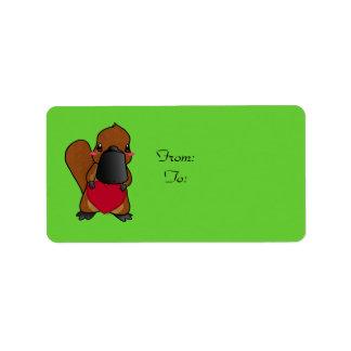 Cute Platypus Label