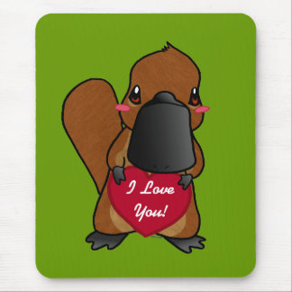 Cute Platypus Mouse Pad