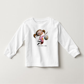 Cute Play Like A Girl Volleyball Toddler T-shirt