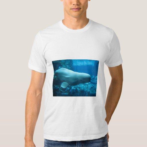 Cute Playful Beluga Whale In Aquarium At Georgia Tee Shirt