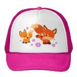 Cute Playful Cartoon Foxes Hat